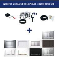 Bedieningsplaat Geberit Sigma 30 DF + DuoFresh Geurzuiveringssysteem Wit Met Goud