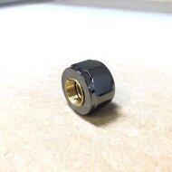 Ottinetti Radiator stop Zwart Chroom D15 Adapter copper pipe