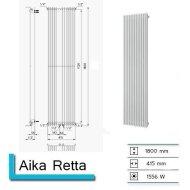 Handdoekradiator Aika Retta 1800 x 415 mm Zandsteen