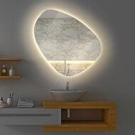 Badkamerspiegel Gliss Fury Organic LED Verlichting 80x80 cm