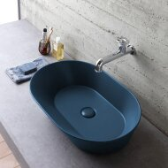 Waskom By Goof Mees Design Opbouw Wastafel Ovaal 60x42 cm Mat Blauw