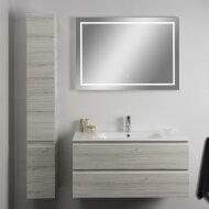 Badkamerspiegel Xenz Sirmione 80x70cm met Rondom Ledverlichting en Spiegelverwarming