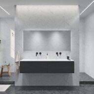 Badkamermeubelset Gliss Eros 180 cm Met Wastafel Zwart Eiken