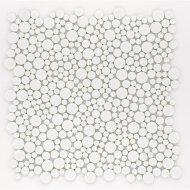 Mozaiek Jos Strucco Plaster Pebbles 30x30cm Blanco (doosinhoud 0.99 m2)