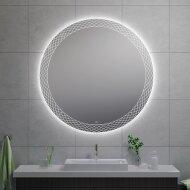 Badkamerspiegel Wiesbaden Deco Rond met LED Verlichting Condensvrij 120 cm