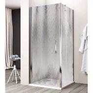 Douchecabine Lacus Giglio Fox Eéndelig 95 cm Chinchilla Glas Aluminium Profiel (1 zijwand)