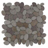 Mozaïek Oval Mix Yucatan Brown/Cream Marmer 30x30 cm (Prijs per 1m²)