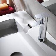 Wastafelmengkraan Hotbath Friendo 1-hendel Cascade Uitloop 14.5 cm Chroom