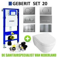 Geberit UP320 Toiletset set20 Villeroy & Boch Subway 2.0 met Sigma drukplaat