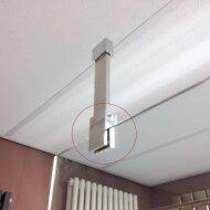 T-stuk voor plafond montage of om stangen haaks te koppelen plafond detail werkelijk