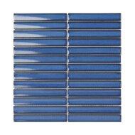 Mozaïek Sevilla Kit-Kat 29.6x29.9 cm Geglazuurd Porselein, Glanzend Jeans Blauw (Prijs Per 0.89 m2)