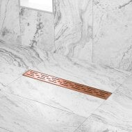 Douchegoot Wiesbaden Met Flens 80x7cm 6.7cm Diep Geborsteld Koper