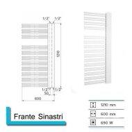 Handdoekradiator Franto Sinistro 1210 x 600 mm Donker grijs structuur