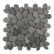 Mozaiek Mat Pebble Regular Bali Black Sea Stone 30x30 cm