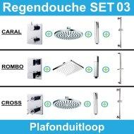 Wiesbaden inbouw regendouche set 03 (plafonduitloop)