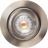 Inbouw Spotlamp Sanimex RVS Look 93x53 mm Inclusief Armatuur en Gu10 4 Watt (4 stuks)