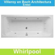 Ligbad Villeroy & Boch Architectura 190x90 cm Balboa Whirlpool systeem Enkel | Tegeldepot.nl