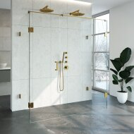 Douchecabine Compleet Just Creating Profielloos XL 80x180 cm Goud