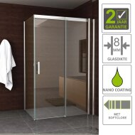 BWS Douchecabine Eris Softclose 120x100 cm 8 mm NANO Coating
