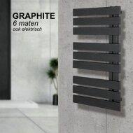 Handdoekradiator IP Oslo Graphite In 6 Verschillende Maten (Ook in elektrische uitvoering)