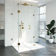 Douchecabine Compleet Just Creating Profielloos XL 100x140 cm Goud