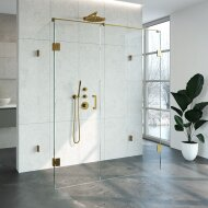 Douchecabine Compleet Just Creating Profielloos XL 80x160 cm Goud