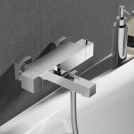 Badthermostaat Hotbath Bloke Opbouw Onderaansluiting 2-knop Chroom