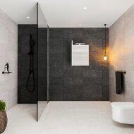 Spiegelkast BWS Valencia 60x70x16 cm met Deur Carrara Mat