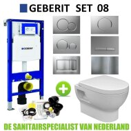 Geberit UP320 Toiletset set08 Wiesbaden Mercurius met Sigma drukplaat