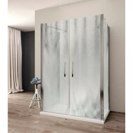 Douchecabine Lacus Giglio Fox 140 cm Chinchilla Glas Aluminium Profiel (2 zijwanden)
