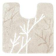 Toiletmat Differnz Leaf Antislip 60x60 cm Microfiber Beige