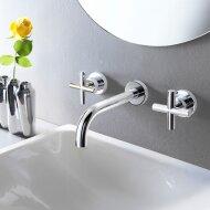 Wastafelmengkraan Hotbath Chap Inbouw 2-kruisgreep Gebogen 14.5 cm Chroom