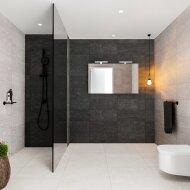 Spiegelkast BWS Valencia 120x70x16 cm met Twee Deuren Carrara Mat