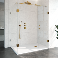 Douchecabine Compleet Just Creating Profielloos 3-Delig 100x160 cm Goud