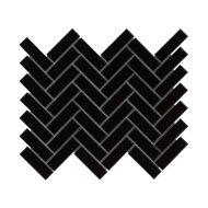 Mozaïek Paris 24.7x31.8 cm Geglazuurd Porselein, Visgraat En Glanzend Zwart (Prijs Per 0.79 m2)