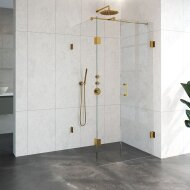 Douchecabine Compleet Just Creating Profielloos 3-Delig 90x100 cm Goud