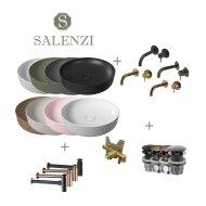 Salenzi Waskomset Form 45x12 cm (Keuze Uit 6 Kleuren)
