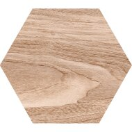 Hexagon Vloertegel Azulejo Wood Beige 22,5 x 25,9 cm