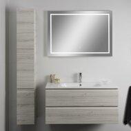 Badkamerspiegel Xenz Sirmione 90x70cm met Rondom Ledverlichting en Spiegelverwarming