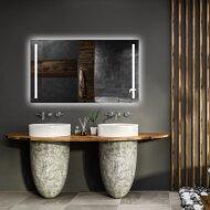 Spiegel Gliss Design Verticaal Led Standaard Dubbele LED Verlichting 140cm