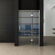 Nis swingdeur Wiesbaden 120x200cm + vast paneel 8mm NANO coating | Tegeldepot.nl