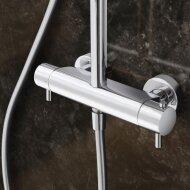 Douche thermostatisch Hotbath Laddy opbouw omstel RVS Look (Douchekraan opbouw)