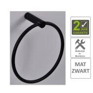 BWS Handdoekring Mia Rond Mat Zwart