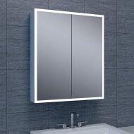 Spiegelkast Wiesbaden Quatro met Rand Verlichting 60x70x13 Aluminium