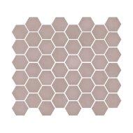 Mozaïek Valencia 27.8x32.5 cm Recycled Glas, Hexagon Mat Roze (Prijs Per 1.00 m2)