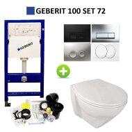 Geberit UP100 Toiletset set72 Sanindusa Plus met Delta Drukplaat