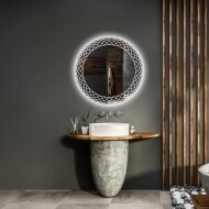 Spiegel Gliss Design Fantasia Rond LED Verlichting 80cm