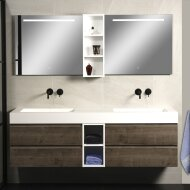 Badkamerspiegel Xenz Lazise 90x70cm met LED Verlichting en Spiegelverwarming