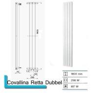 Designradiator Covallina Retta Dubbel 1800 x 298 mm Pearl Grey