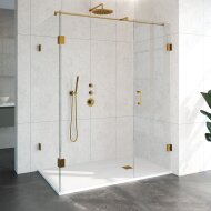 Douchecabine Compleet Just Creating Profielloos 3-Delig 90x160 cm Goud